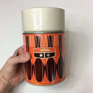 Vintage 70s Thermos Hot Cold Travel With Lid